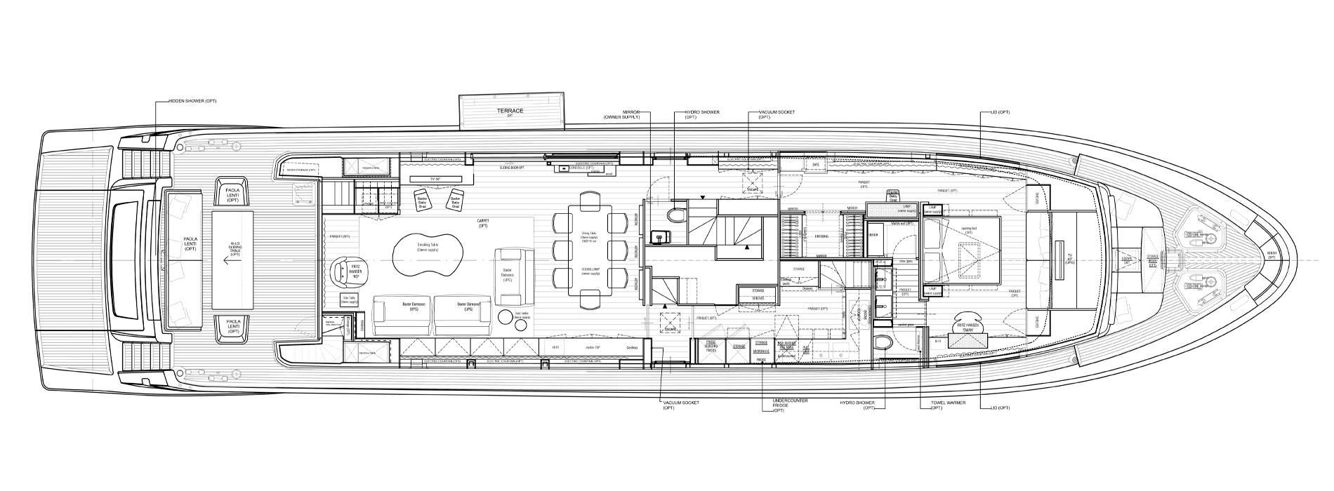 Sanlorenzo Yachts SL106-625 Main deck