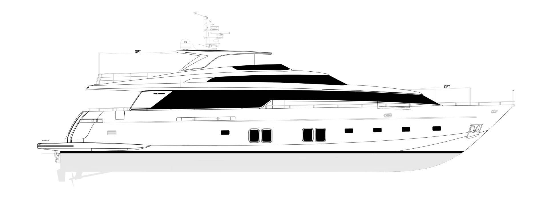 Sanlorenzo Yachts SL106-625 under offer Profil