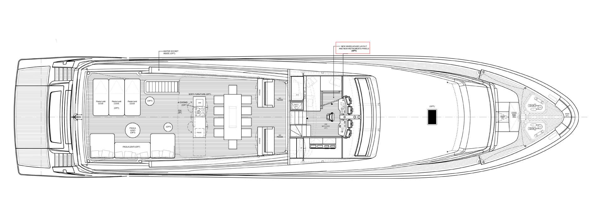 Sanlorenzo Yachts SL106-625 under offer Außendeck