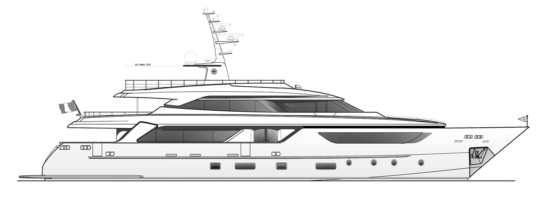 Sanlorenzo Yachts SD122-27 under offer Profile