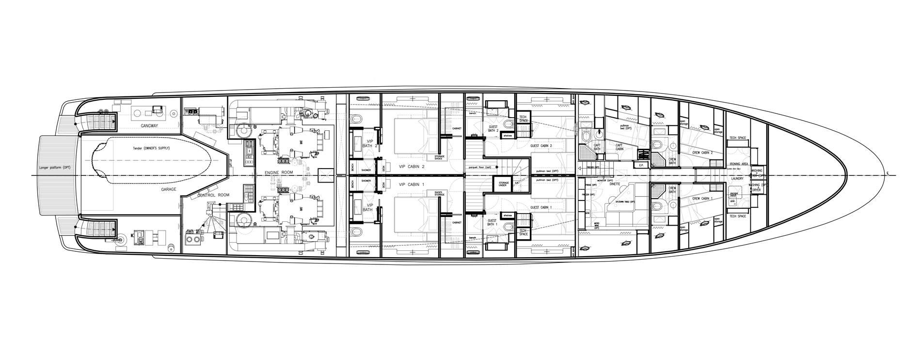 Sanlorenzo Yachts SD122-27 under offer Unterdeck