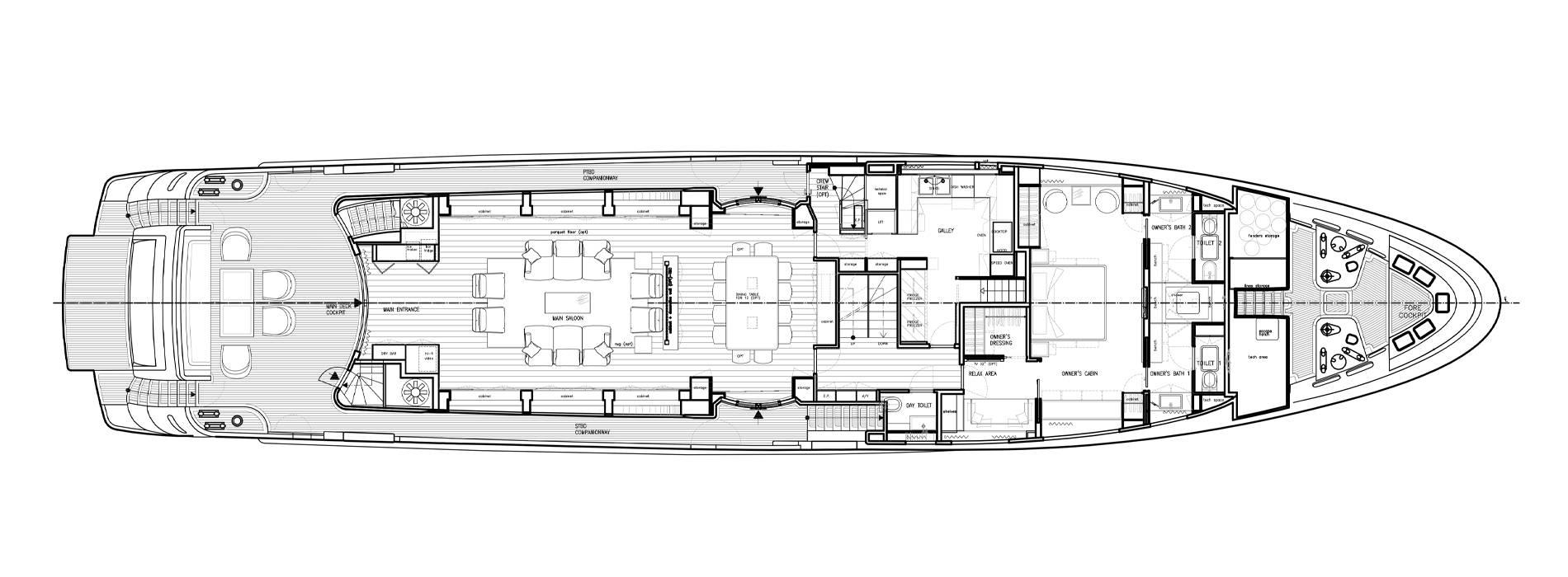 Sanlorenzo Yachts SD122-27 under offer Hauptdeck