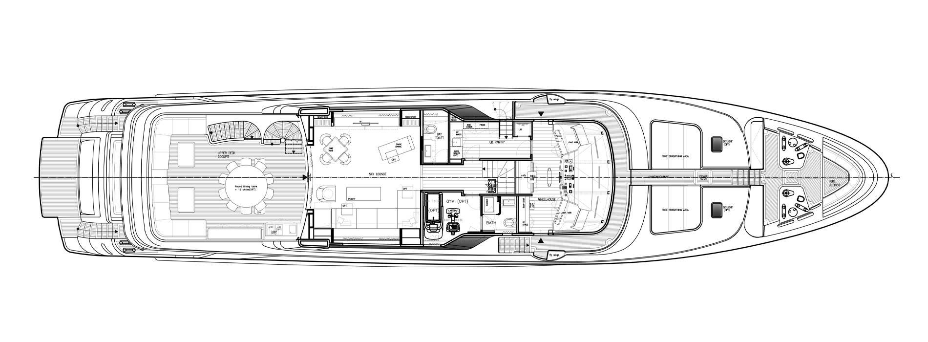 Sanlorenzo Yachts SD122-27 under offer Oberdeck