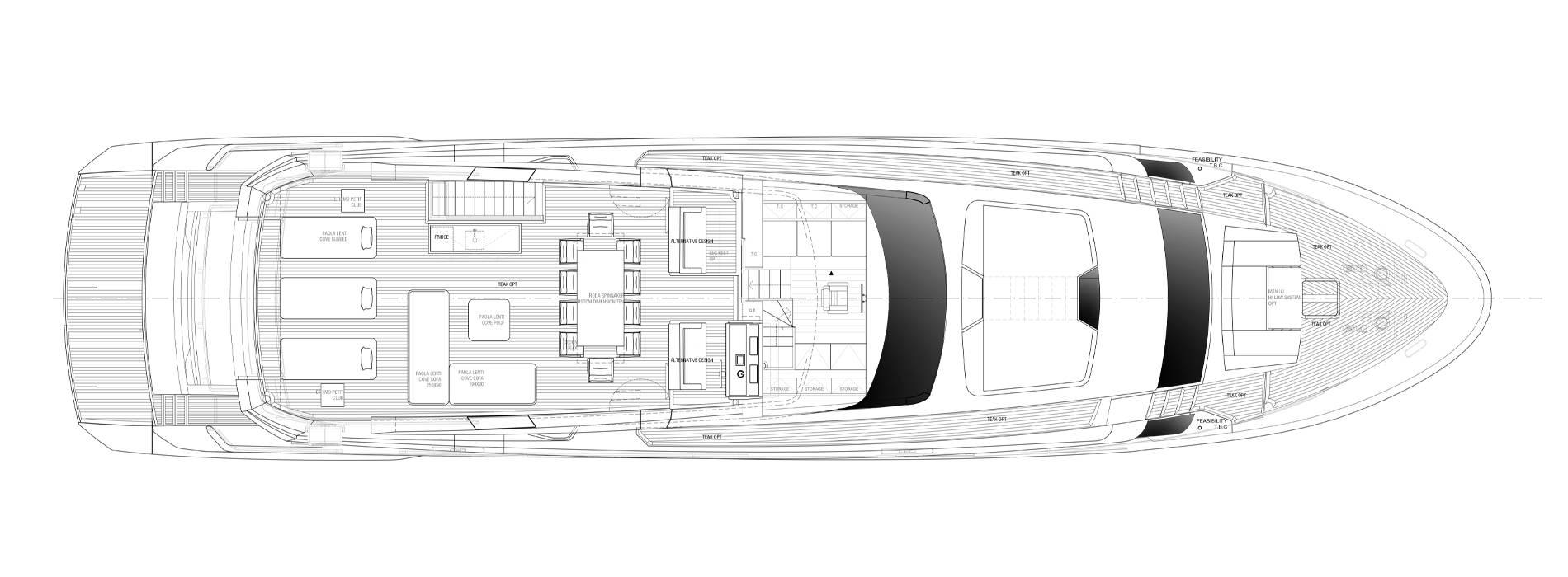 Sanlorenzo Yachts SL102A-746  Außendeck