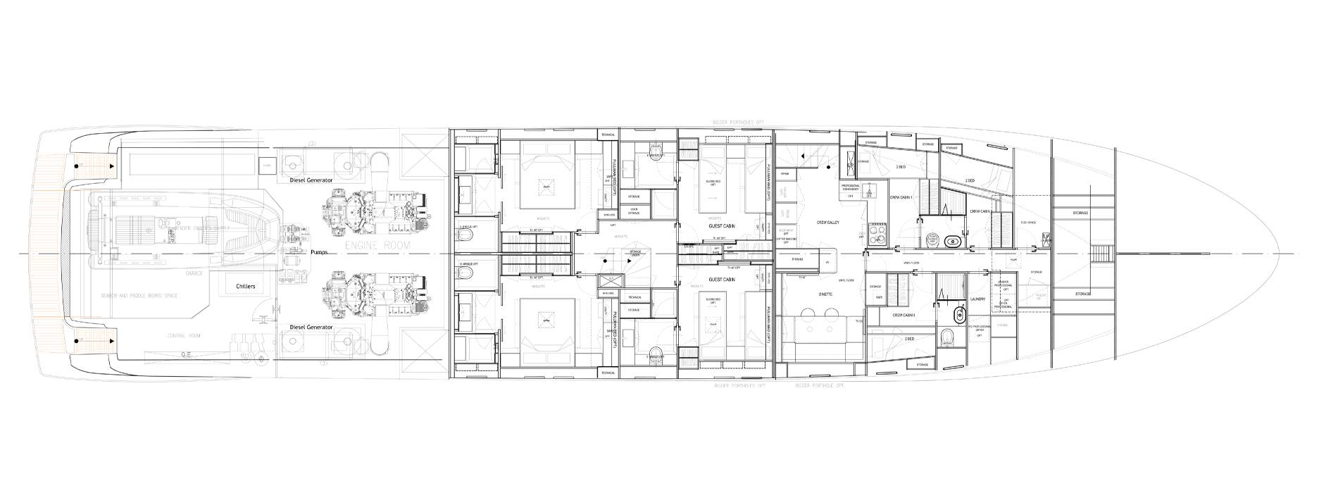 Sanlorenzo Yachts SL118-628 Lower Deck