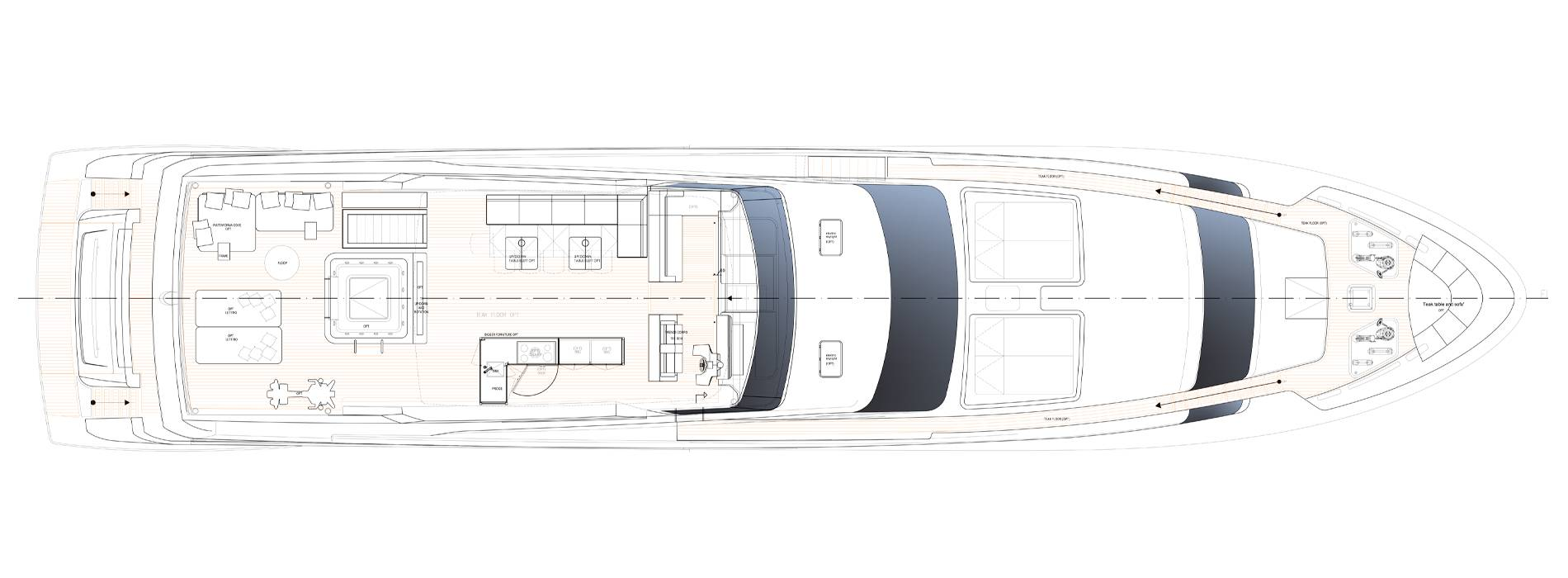 Sanlorenzo Yachts SL118-628 Außendeck