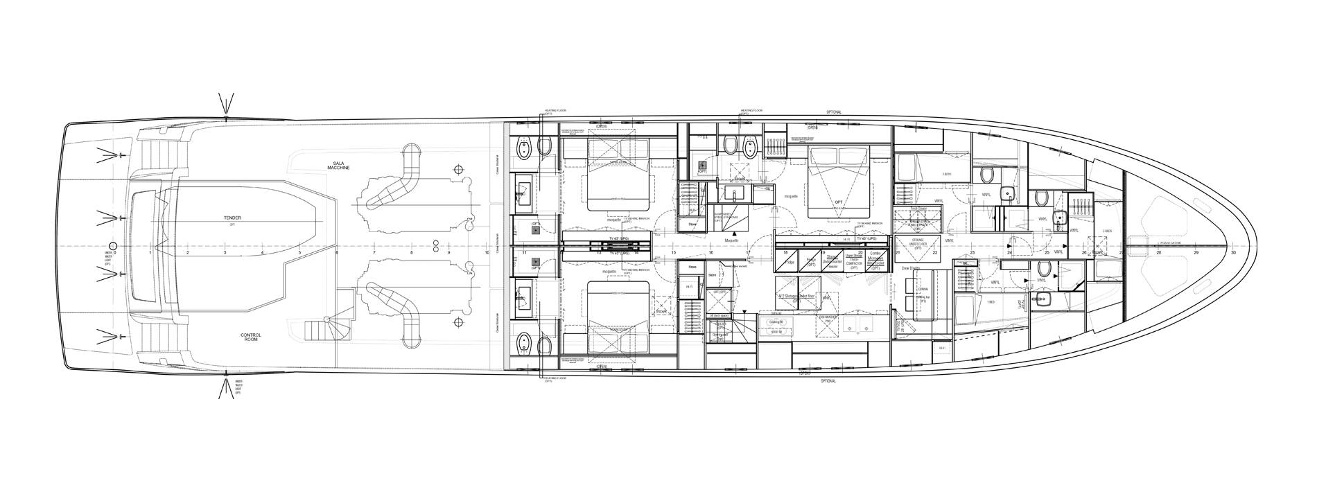 Sanlorenzo Yachts SL106-725 Unterdeck