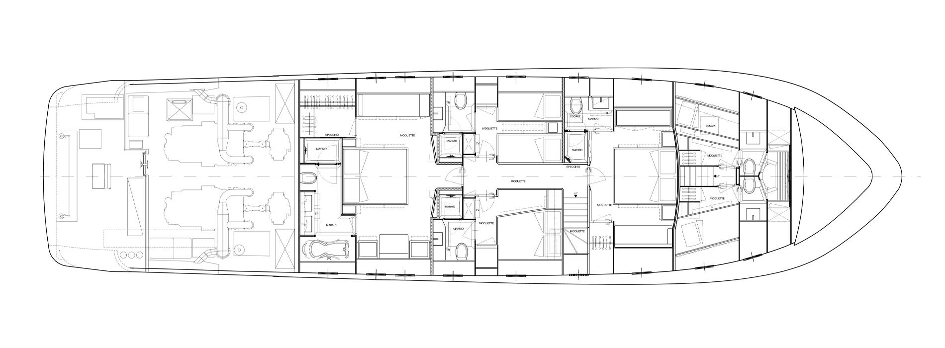 Sanlorenzo Yachts SL88-541 Lower Deck